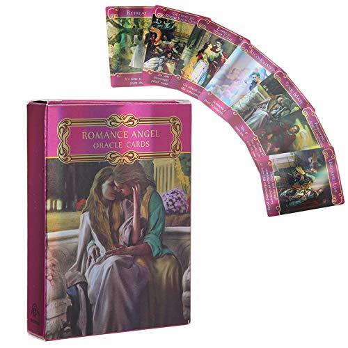 Ensemble de 44 Cartes de Tarot Hologramme, Cartes Oracle Ange Romance Carte de Tarot Révélatrice D'Avenir Avec Effet Flash, Fate Divination Card Party Table Game Gift Pour Les Débutants