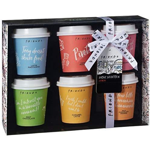RA-HOMESTORE New Ideal Friends Kaffee-Auswahl-Set, 6 Stück, Geschenk-Set voller lustiger, unvergesslicher Zitate