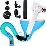 keloubele Inflatable Integrated Air Pressure Plunger Kits,White Air Drain Blaster Gun Plunger High Pressure,Toilet Dredge Drainage Pipe Clogging Dredging Tool for Kitchen Sewer Bathroom Sink Dredge