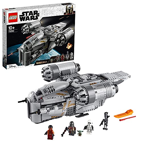 LEGO 75292 Star Wars The Mandalorian Kopfgeldjäger Transporter Raumschiff Spielzeug mit dem Kind als Minifigur