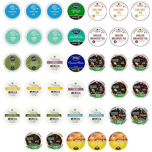 Tea Pods Variety Pack, Assorted Green Tea, Black Tea, White Tea, & Herbal Tea , Single Serve Tea Pods for Keurig K Cups Machines, 40 Count