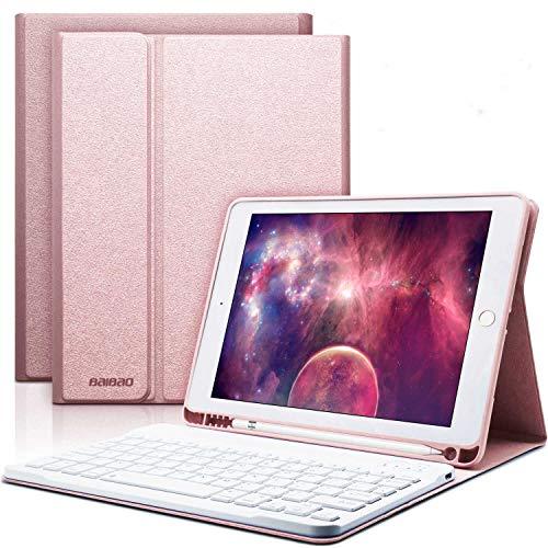 "iPad Keyboard Case 9.7 for 6th Generation 2018 iPad 9.7 5th Gen iPad Pro 9.7"" Air 2 iPad Air 1 with Pencil Holder Bluetooth Wireless Detachable Keyboard iPad 6th Generation Case with Keyboard"