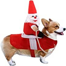 VanStarCute Dog Christmas Clothes Pet Costume Velvet Coat for Cats & Dogs Puppy Xmas Fancy Dress Warm Party Suit for Teddy, Yorkshire Terrier, Chihuahua, Pomeranian Festive Gifts (S)