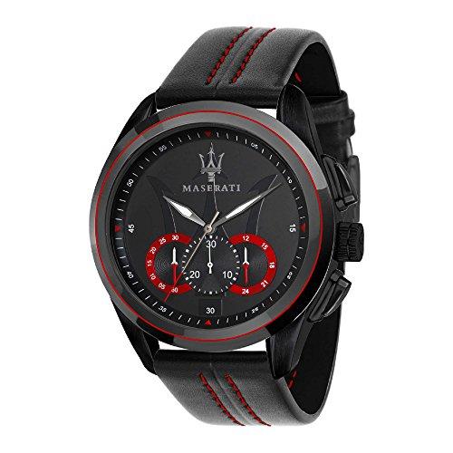 MASERATI Orologio Cronografo Quarzo Uomo con Cinturino in Pelle R8871612023