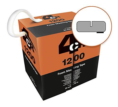 Schaumklebeband I Foam Masking Tape I 20 mm x 50 m Rolle von 4CR I Lackierzubehör