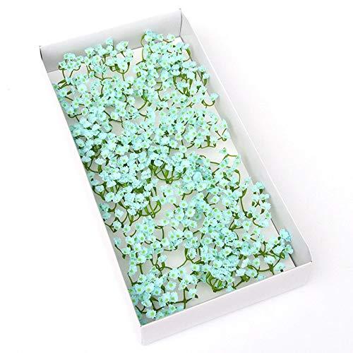 選べる6色、ソープフラワー【かすみそう】花材 ハンドメイド 手作り 贈り物 シャボンフラワー かすみ草 1個 (水色)