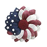 TAIYANYU Patriotic Wreaths for Front Door Outside Decorations 17.6 in, American Flag Wreath for Front Door, Door Wreaths for Front Door Outside All Season (A)