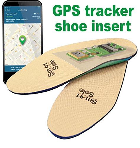 GPS SmartSole Hidden Wearable Tracker in Shoe for Monitoring...