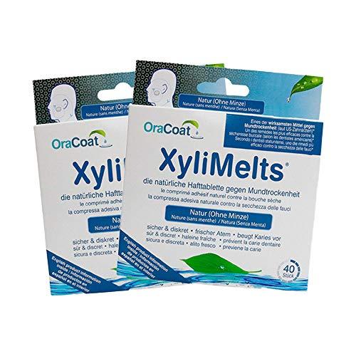 OraCoat XyliMelts - 80 pastillas adhesivas contra las caries y la sequedad bucal - Discreto - utilizable durante el sueño - Vegano - Sin menta