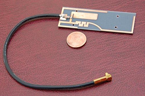 Alda PQ Antena para Uso con Tarjetas de circuitos Impresos para 2G (gsm), 3G (UMTS), WiFi/Bluetooth con MMCX/M Enchufe y 15cm Cable