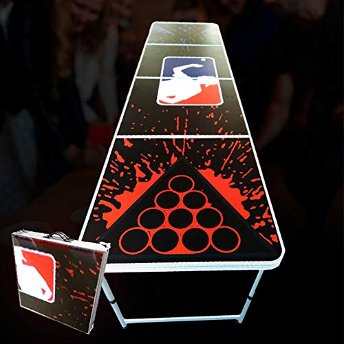 Grupo Todoluminosos Mesa Beer Pong - 240 x 60 x 70 cm - Mesa Oficial Liga Beer Pong