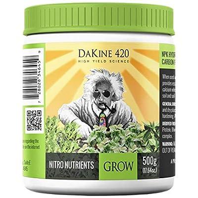 DaKine 420 Nitro Nutrients Grow Indoor Plant Food NPK 15-0-15 Fertilizer, 500g