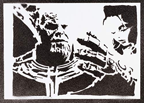 Thanos Poster The Avengers Plakat Handmade Graffiti Street Art - Artwork