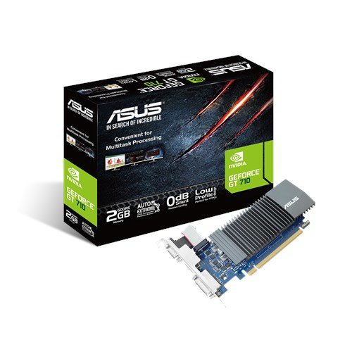 ASUS GeForce GT 710 2 GB DDR5, Scheda Video Low Profile per HTPC Compatti e Build Low Profile, Incluso Bracket Aggiuntivo I/O
