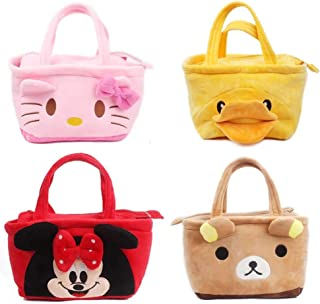 LQT Ltd New Cute Plush Backpack Cartoon Plush Hand Bag Stationery Lunch Bag Mochila Candy Bags
