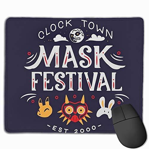 Klok Stad Masker Festival Gaming Muis Mat Grootte 25x30cm Bureau Toetsenbord Mat Grote Muis Pad Voor Computer Desktop PC Laptop
