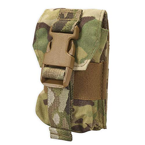 Chase Tactical Strobe Light Pouch – Lightweight – Holds MS-2000 IR Strobes, Compass – Attaches with MOLLE – for Rescue Searches, Military, Law Enforcement, Medical, Combat Training – Unisex, Multicam