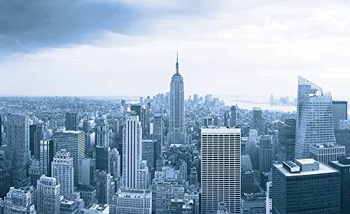 BUV Design Fototapete - Aussicht auf Manhattan – Moderne Wanddeco – Wand Decoration - Wandtapete (Papier, 184cm x 254cm)