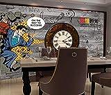 Muzemum Pared de Fondo de Reloj de Hombre 3D Fondo Pared Fondo De Pantalla Grande Papel Pintado No Tejido -177.16 x 118.11 inch/450cm x 300cm