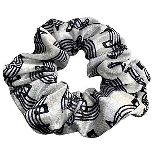 Music Scrunchie Girls Music Premium Velvet Scrunchie Gift Treble Clef Jewelry  Music Note Music Lover Jewelry Gift