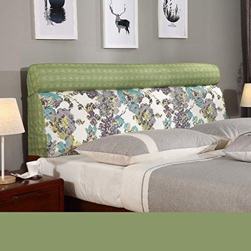 uus Coussin de tête de lit populaire moderne Protecteur de perruque Doux et confortable Tissu Linge de lit Sac souple Coussin de lit grand oreiller lavable 60 * 155cm ( Couleur : M )