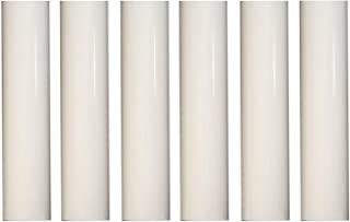 Creative Hobbies 1751 - Set of 6, 4 Inch Tall White Plastic Candle Covers Sleeves Chandelier Socket Covers ~Candelabra Base