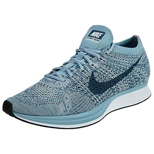 Nike Men's Lunarepic Low Flyknit Running Shoes (10 M US, White/Leggion Blue)