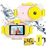 Bambini macchina fotografica subacquea, con la macchina fotografica 32G di memoria anteriore...