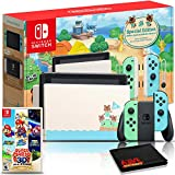 Nintendo Switch Animal Crossing: New Horizons Edition 32GB Console Bundle + Super Mario 3D All-Stars Game