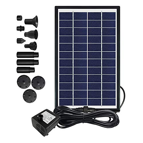 6W Solar Fountain Pump, Solar Powered Water Fountains Submersible Pump with...