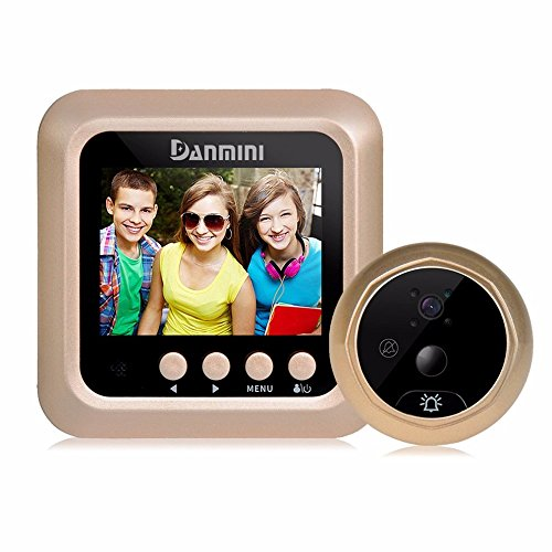 Door Viewer Doorbell Lcd Security Camera Monitor 165° Wide Angle Lens Video Record Photo Shooting No App Peephole Smart Easy Installation Night Vision Led Screen Motion Sensor Hd Cam Recordphoto