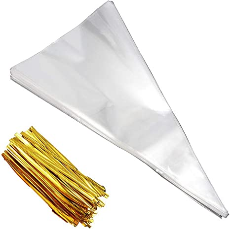 Twist Tie 7 optional colours Metallic  for cello bags gift bags =length 8cm