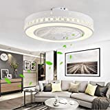 Fan Ceiling Light Creative Modern Ceiling LED dimmable Ceiling Fan with Lighting