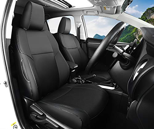 Bwen czd1123a Car Seat Covers Leather Custom Full Set Seat Covers for 2018 2019 Toyota CHR,Black