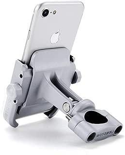 SJMLP Mobile Phone Holder Universal Aluminum Alloy Motorcycle Phone Holder for iPhoneX 8 7 6s Support Telephone Moto Holder for GPS Bike Handlebar Holder,Silver