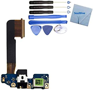 SooMine SooMine USB Dock Connector Charging Port Flex Cable Replacement Compatible HTC One M9 + Repair Tools