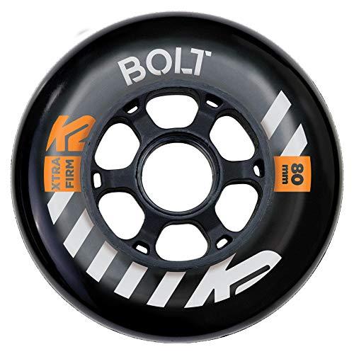 K2 Skates Unisex– Erwachsene Rollen URBAN Bolt 80MM 90A 4-Wheel Pack — Black — 80mm — 30F3014