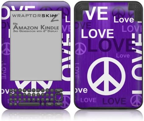 WraptorSkinz Love and supreme Peace Max 64% OFF Purple - Amazo Decal fits Skin Style