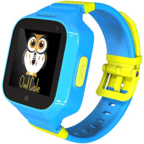 3G GPS Tracker Best Waterproof Wrist Smart Phone Watch for Kids with Sim Slot Camera Anti Lost Fitness Tracker Birthday Holiday for Children Boys iPhone Android Smartphone (Blue Sky)