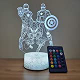 Spiderman Night Light Kids Table Lamp, 3D LED Illusion Lamp for Boys Bedroom