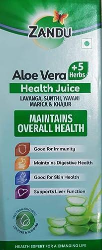 Zandu Aloe Vera and 5 Herbs Health Juice 1000ml