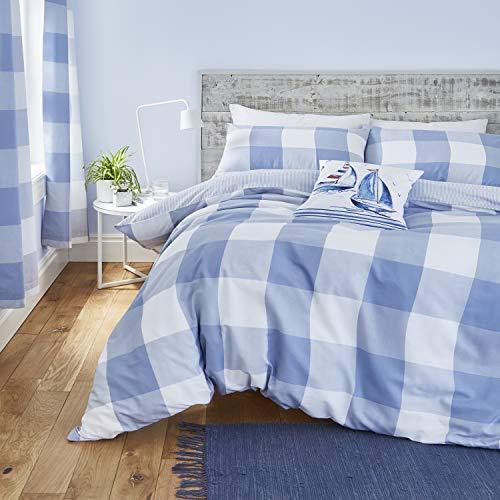 color azul claro y blanco dise/ño de estrellas 2 piezas, 70 x 50 cm, funda n/órdica y funda de almohada Rawstyle Juego de ropa de cama