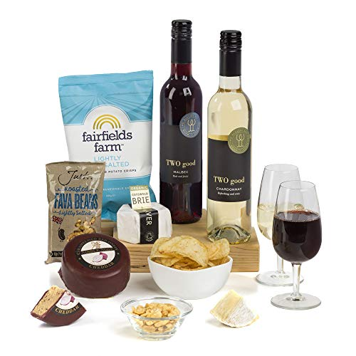 Hay Hampers - Two Good. Two Wine & Two Cheese Hamper Gift Box- FREE UK Delivery