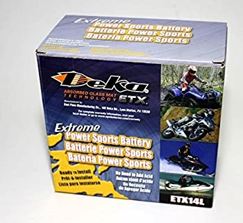 Genuine EastPenn Deka ETX14L PowerSport Battery Made in USA