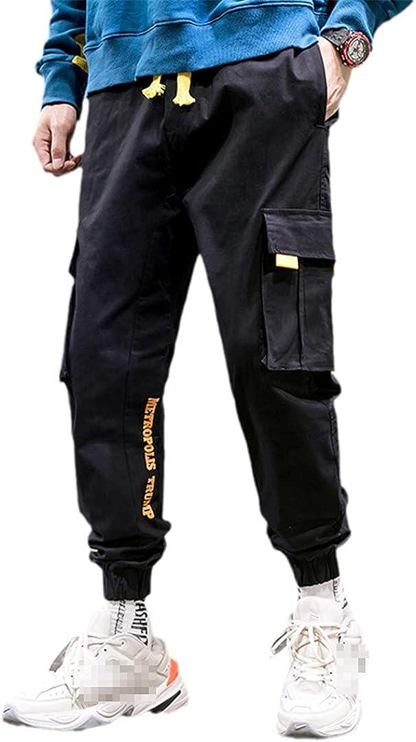 GYSAFJ Mens Cargo Pants Joggers Men Camouflage Hip Hop Trousers