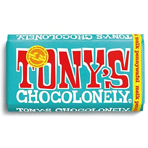 Tony's Chocolonely Chocolade Reep Melk Pennywafel 15 x 180 gram