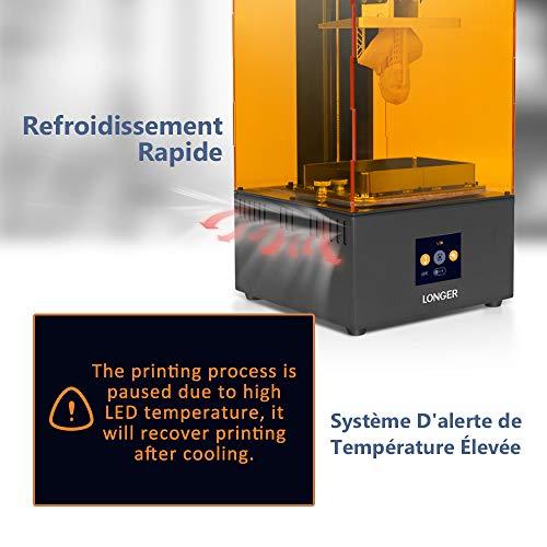 LONGER Orange 30 3D Drucker, Harz 3D Drucker mit Touchscreen, 2K-LCD-Bildschirm, Matrix-UV-LED, größeres Druckformat 12 cm (L) x 6,8 cm (B) x 17 cm (H) mit 250 g Harz - 5