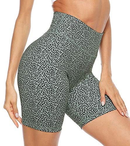 Voqeen Mujer Pantalones Cortos Deportivos De Cintura Alta Leggings De Yoga Pantalones De Entrenamiento Elásticos con Bolsillos Interiores No Transparentes Correr Ciclismo Fitness Pantalones Calientes