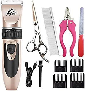 Shears Hair Cutting Tool Pet Professional Quiet Low Noise Dog Grooming Clippers Rechargeable Cordless Pet Hair Trimmer, Do...