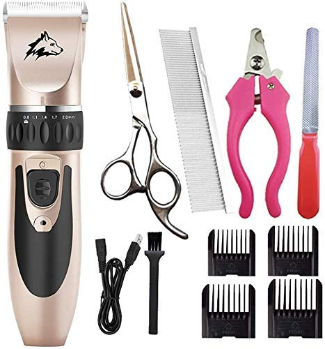 Dpliu Shears Hair Cutting Tool Pet Professional Quiet Low Noise Dog Grooming Clippers Rechargeable Cordless Pet Hair Trimmer, Dog Clippers, Best Hair Clipper for Dogs Cats Pets Hair Trimming Sc